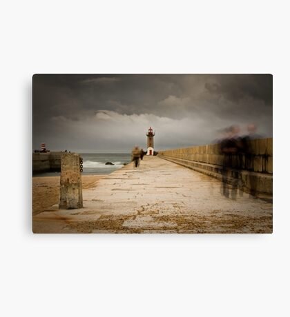 Ghosts by the pier Canvas Print