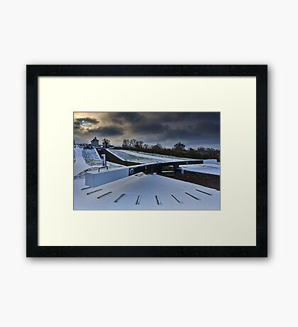 Top Lock Cottage - Foxton Locks. UK Framed Print