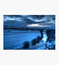 River Ure with Bainbridge  Photographic Print