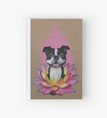 Zen Boston Terrier - Lotus Flower Hardcover Journal