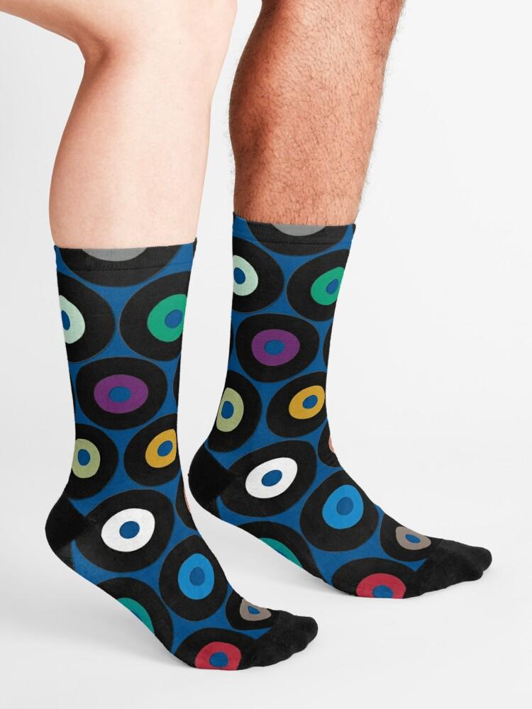 Alternate view of VINYL blue Socks