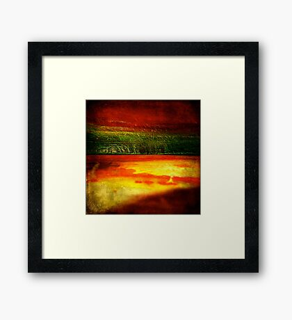 Horizontal Rainbow Framed Print