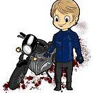 Chibi Hannibal - Motorcycle by Furiarossa