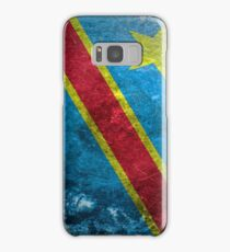 Democratic Republic of the Congo Grunge Samsung Galaxy Case/Skin