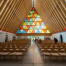 Inside Christchurch's Transitional Cathedral by Mark Prior