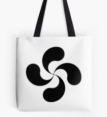 Basque Cross or Lauburu Tote Bag