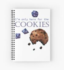 I'm only here for the cookies and dice - purple Spiral Notebook