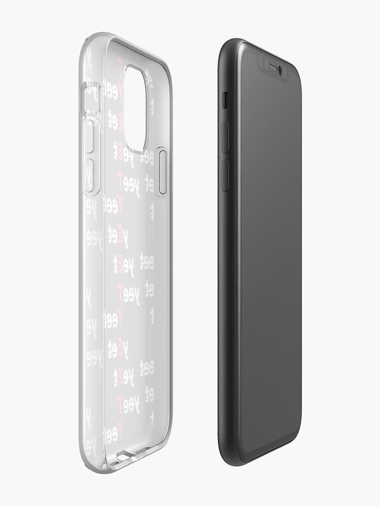 Coque iPhone «YEET YEET YEET YEET - Blanc pour Noir», par skrtz