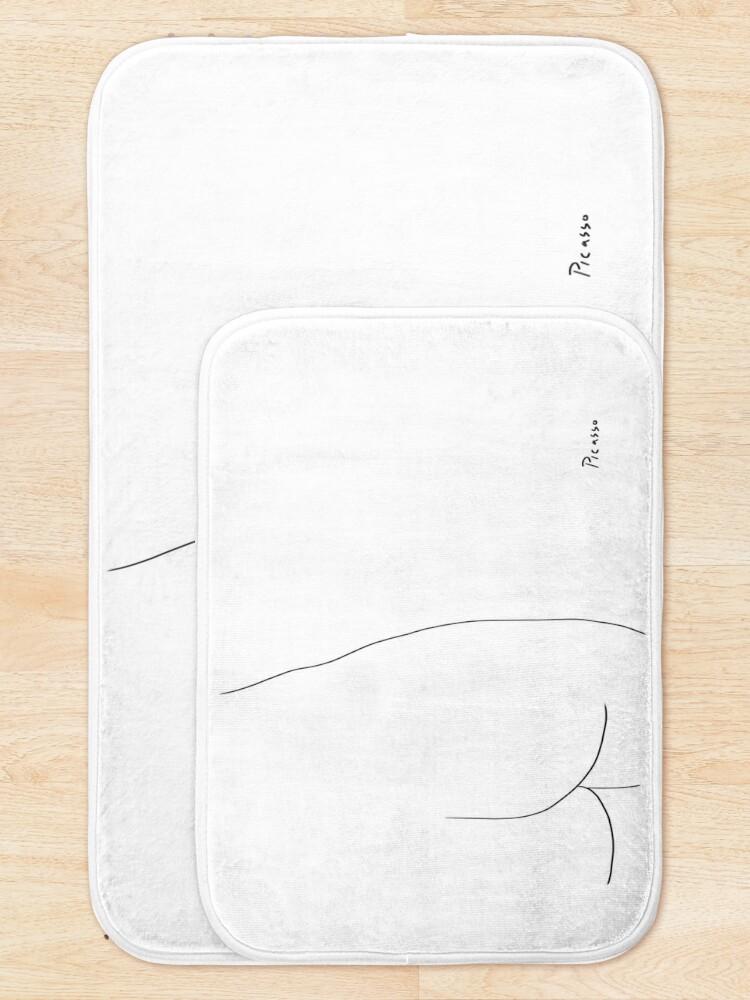 Alternate view of Picasso Line Art - Butt Bath Mat