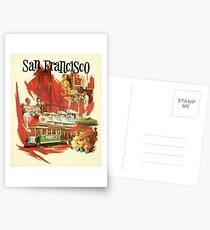 Vintage San Francisco poster Postcards