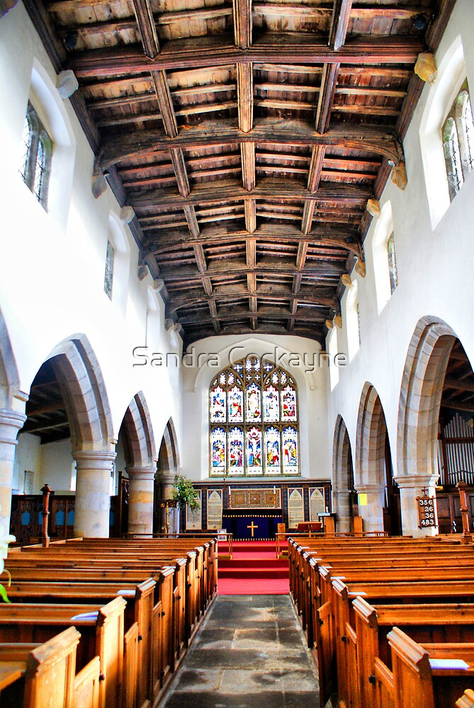 St Oswald's Church Interior ~ Askrigg ~ by Sandra Cockayne