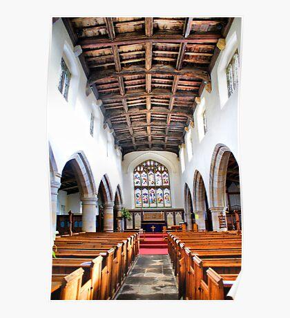 St Oswald's Church Interior ~ Askrigg ~ Poster