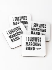 I survived marching band - Funny Trumpet T Shirts and Gifts Marching Band Untersetzer