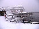 Snow in Staithes by Sue Nichol