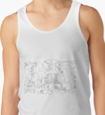 Picasso Line Art - Guernica Tank Top
