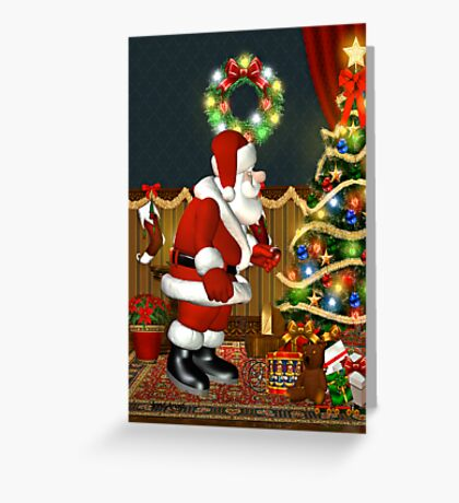 Santa`s Visit Greeting Card