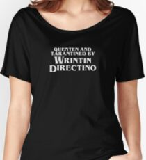 Pulp Fiction | Quenten and Tarantined by Wrintin Directino Relaxed Fit T-Shirt