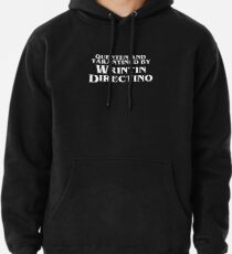 Pulp Fiction   Quenten and Tarantined by Wrintin Directino Pullover Hoodie