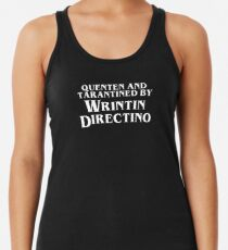 Pulp Fiction | Quenten and Tarantined by Wrintin Directino Racerback Tank Top