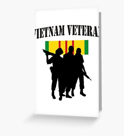 Vietnam Veteran T-Shirt Greeting Card