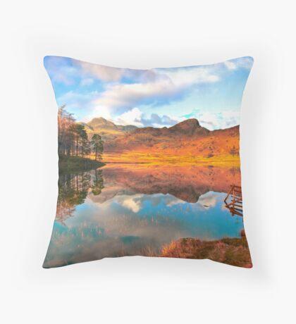 Blea Tarn - Lake District Cumbria. Throw Pillow