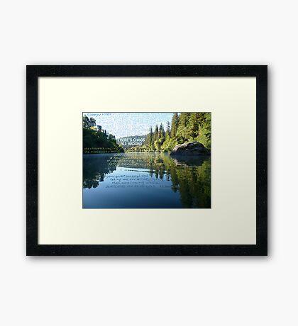 Sleepy River Framed Print