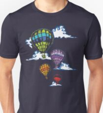 Hot-air Balloons in the Evening  Slim Fit T-Shirt