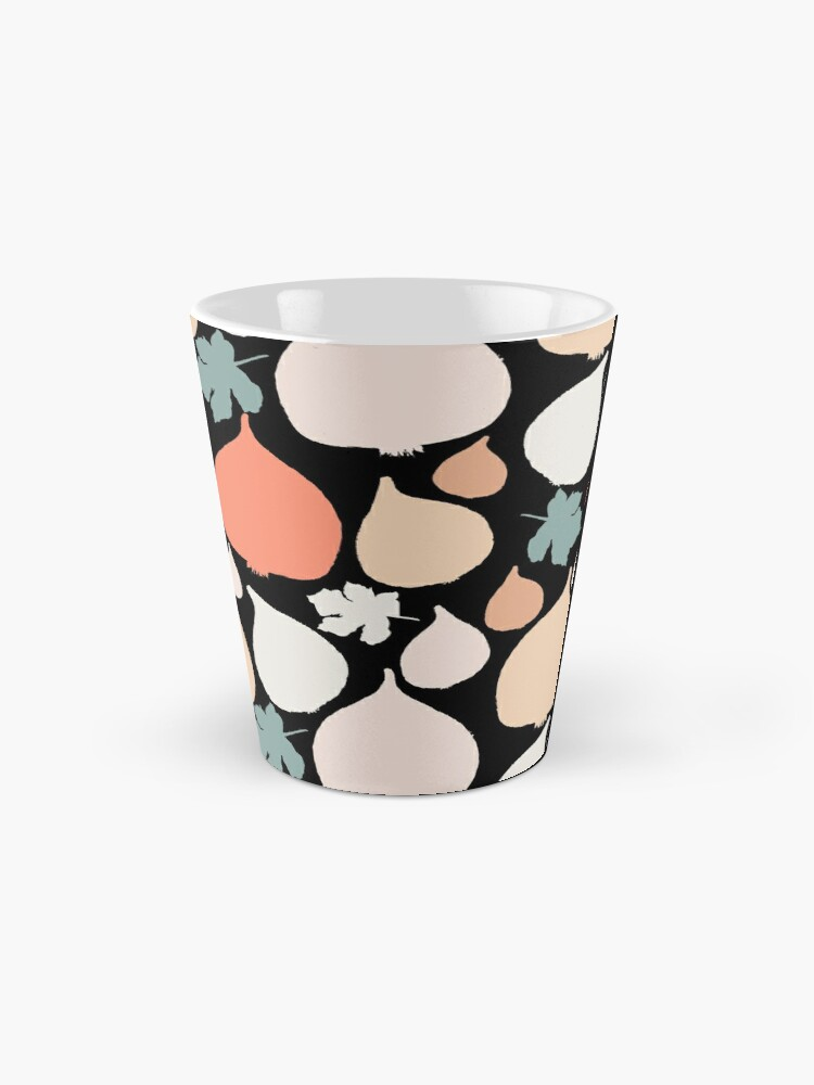 Alternative Ansicht von Feigen mit schwarzer Hintergrund Muster Tasse