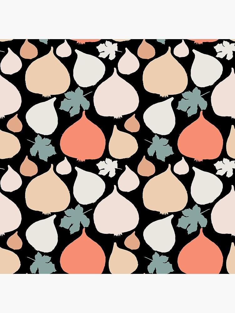 Feigen mit schwarzer Hintergrund Muster von RanitasArt