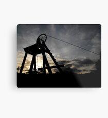 Blists Hill Mining Wheel Metal Print