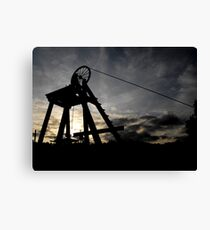 Blists Hill Mining Wheel Canvas Print