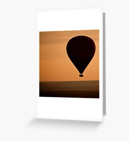 Balloon Safari, Masai Mara, Kenya Greeting Card