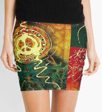 Peace, Love and Rasta Mini Skirt