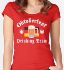 Oktoberfest Drinking Team Women's Fitted Scoop T-Shirt