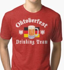 Oktoberfest Drinking Team Tri-blend T-Shirt
