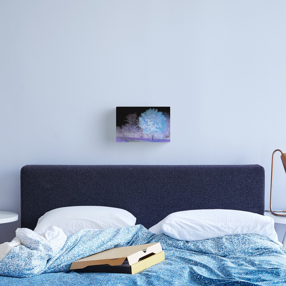 Inverted chestnut in blue-purple Canvas Print
