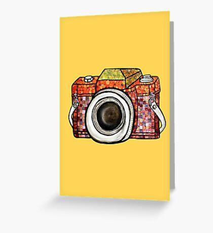 Patchwork Camera Greeting Card
