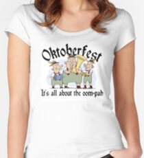 Funny Oktoberfest Women's Fitted Scoop T-Shirt