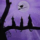 Halloween-Hexenkatzen von Stephanie Laird
