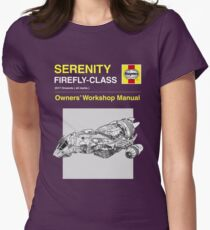 Serenity - Owners' Manual Women's Fitted T-Shirt