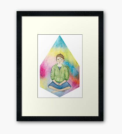 Sitting Enby Framed Print