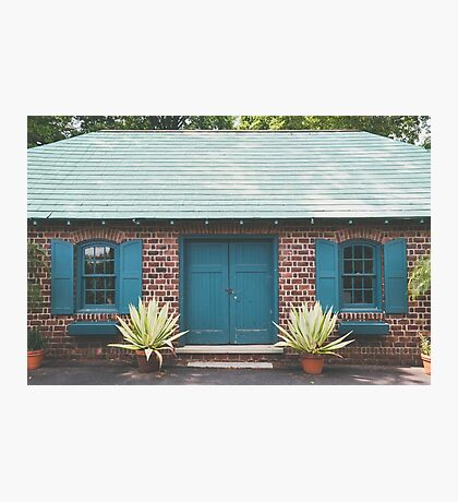 Garden Shed in Teal Photographic Print