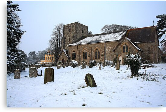 St Michael's In The Snow by Dave Godden