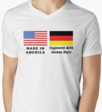 Made In America With German Parts Men's V-Neck T-Shirt