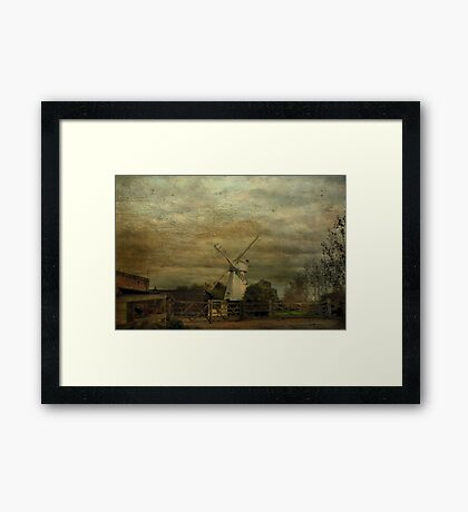 The White Windmill Framed Print