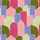 Stained Glass Blocks in Pink by alicemoore