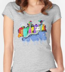 This City is Industrious.  Women's Fitted Scoop T-Shirt