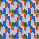 Stained Glass Blocks in Blues by alicemoore