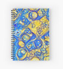 Yellow and Blue abstraction Spiral Notebook