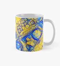Yellow and Blue abstraction Classic Mug